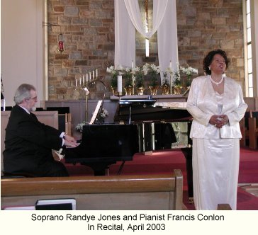 Soprano Randye Jones and Pianist Francis Conlon
